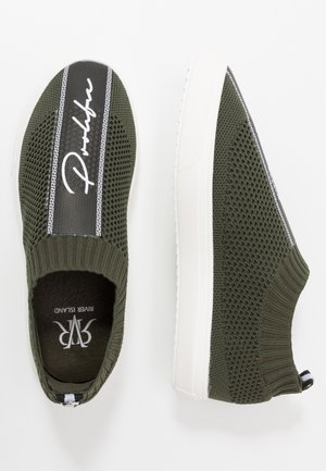 Scarpe senza lacci - khaki