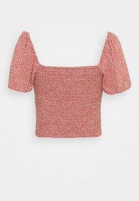 Abercrombie & Fitch - CINCH VNECK FLUTTER - Blus - pink - 1