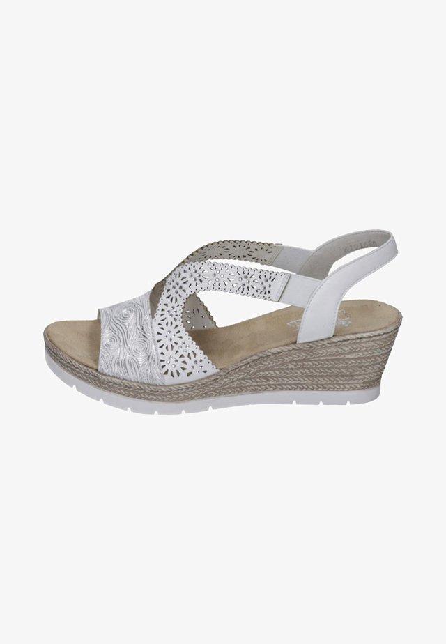 Sandales compensées - white