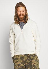 The North Face - MENS GLACIER 1/4 ZIP - Fleece jumper - vintage white - 0