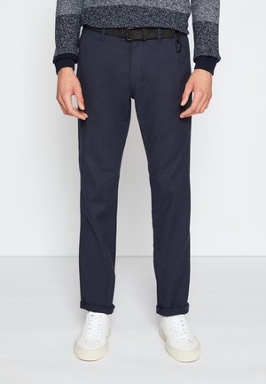 STRUCTURED - Chinos - navy