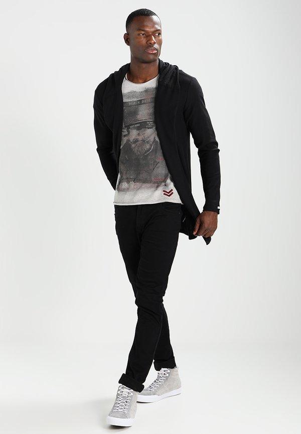 Key Largo KALLE - Kardigan - black/czarny Odzież Męska WZEY