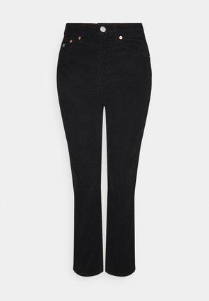 HARPER STRIGHT - Spodnie materiałowe - black