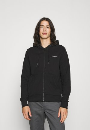 SMALL CHEST LOGO ZIP THRU - Sweater met rits - black