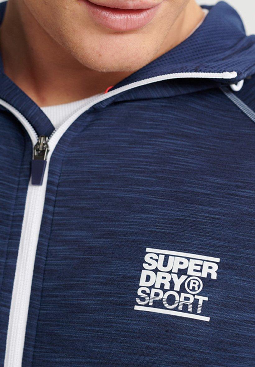 Superdry SUPERDRY TRAINING ZIP HOODIE - veste en sweat zippée - beechwater blue marl