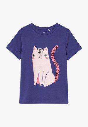 NKFDIVI  - T-shirt print - navy blue