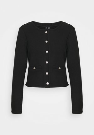 VMESTELLE BUTTON - Strickjacke - black