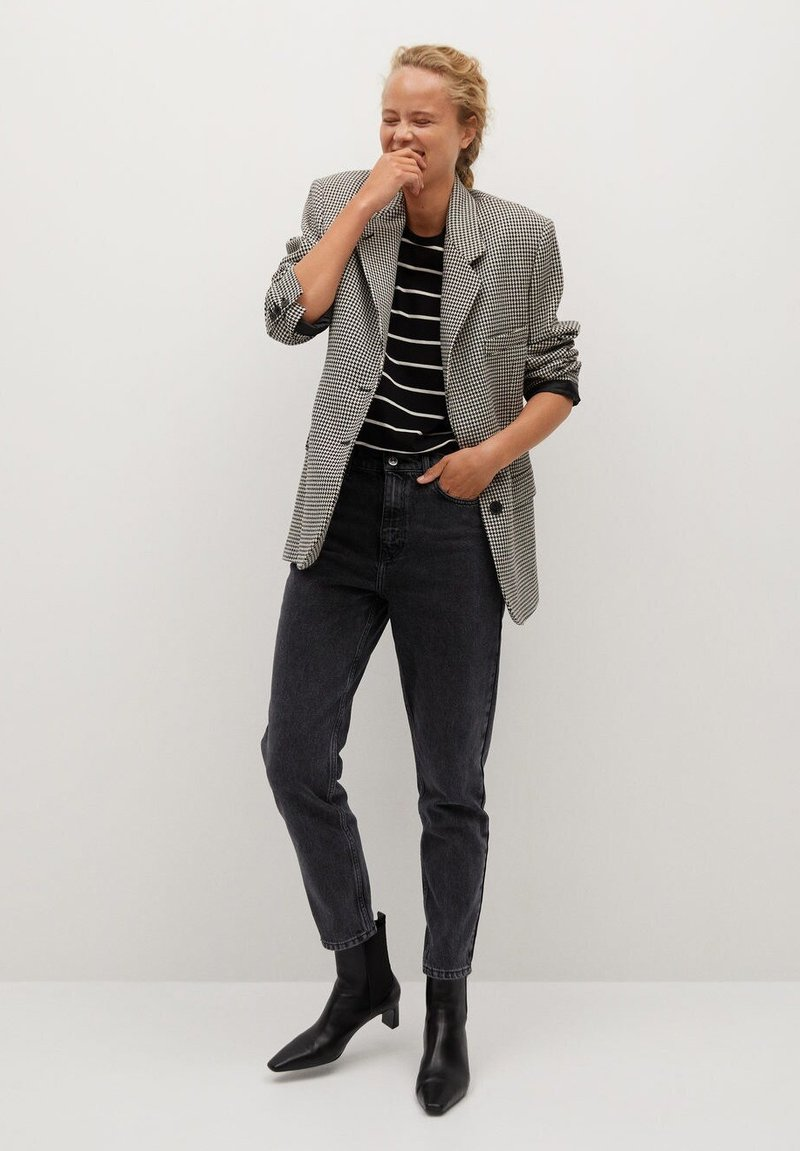 Mango MOM - Jeans Slim Fit - black/schwarz I8K8At