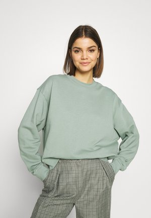 HUGE CROPPED - Mikina - sage green
