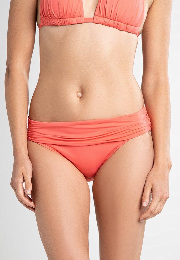 Lauren Ralph Lauren - BCS WIDE SHIRRED BAND HIPSTER - Bikini bottoms - coral reef
