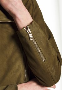 Pedro del Hierro - JACQUET - Leather jacket - green - 5