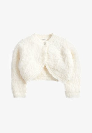 PINK SPARKLE FLUFFY SHRUG CARDIGAN (12MTHS-16YRS) - Kardigan - white