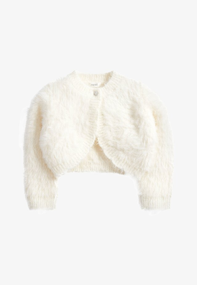 PINK SPARKLE FLUFFY SHRUG CARDIGAN (12MTHS-16YRS) - Cardigan - white