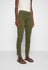 Mos Mosh - GILLES CARGO PANT - Trousers - army - 0