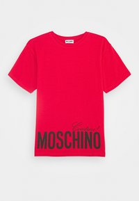 MOSCHINO - MAXI OVERSIZE - Print T-shirt - flame red - 0