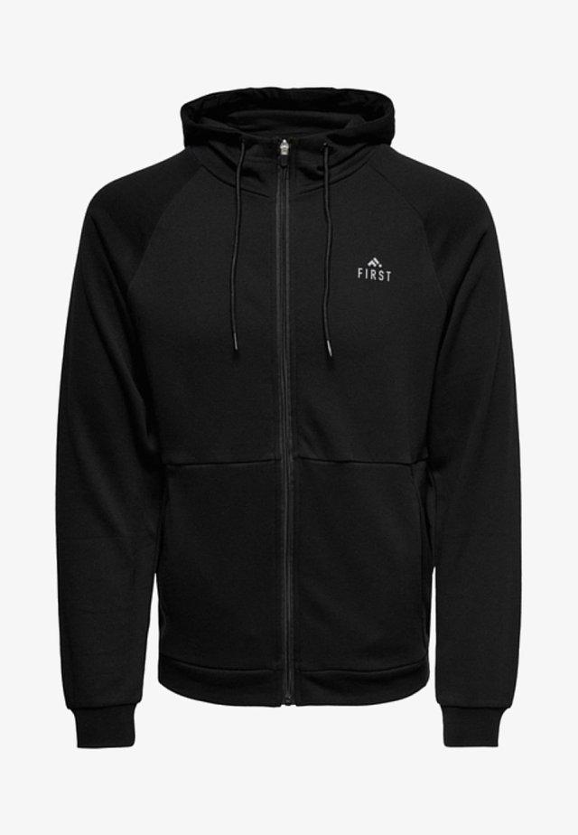 FIRST - Zip-up hoodie - black