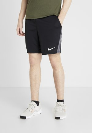 SHORT TRAIN - Träningsshorts - black/iron grey/white