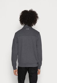 Calvin Klein - TEXTURE BLOCK ZIP JACKET - Mikina na zip - dark grey heather - 2