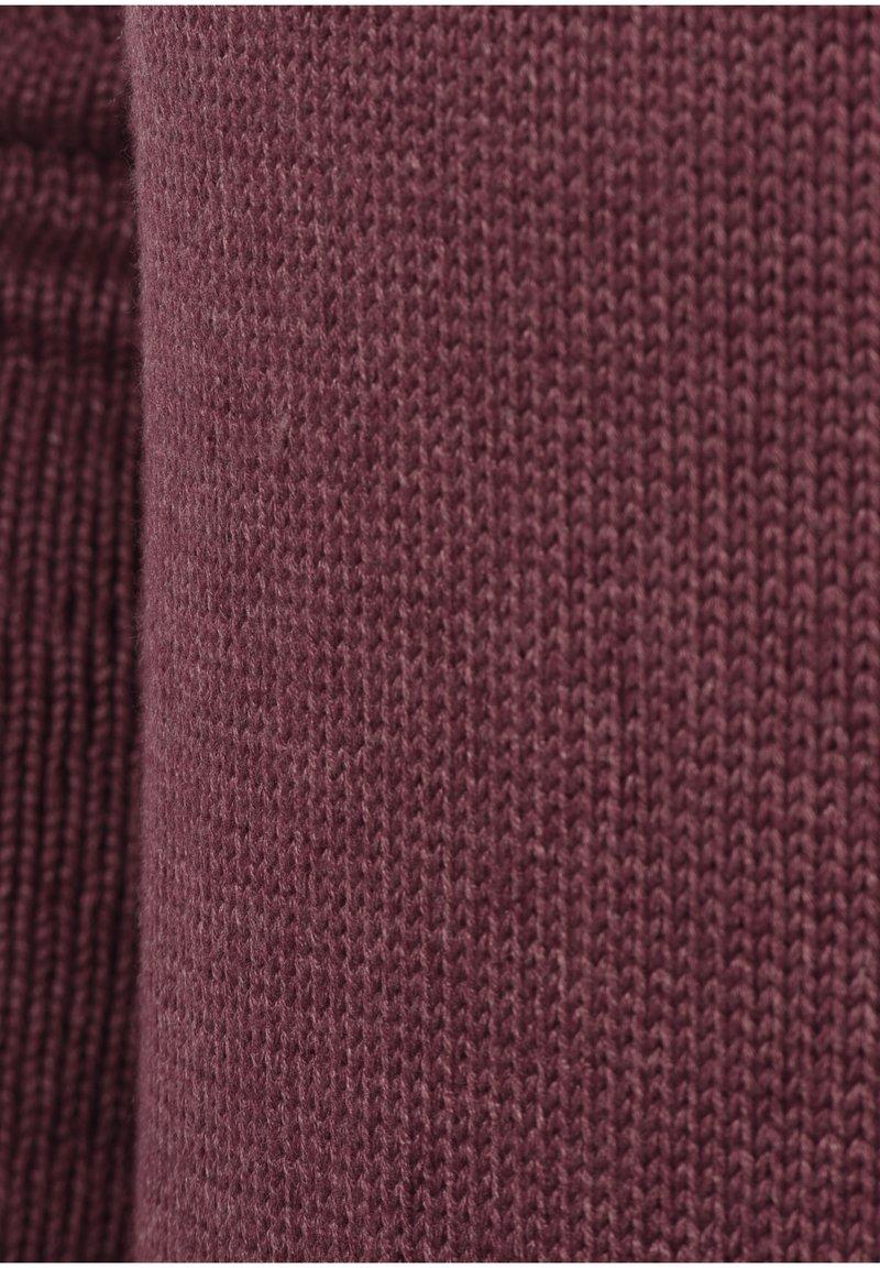 Solid POUL - Strickjacke - wine red/dunkelrot waLTyr