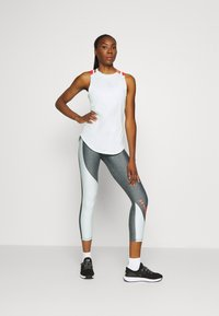 Under Armour - ANKLE CROP - Punčochy - charcoal light heather