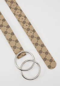 Missguided - PRINTED DETAIL DOUBLE RING BELT - Riem - cream - 1