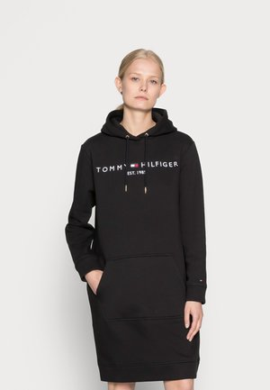 REGULAR HILFIGER HOODIE DRESS - Day dress - black