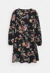 ONLY Carmakoma - CARLUXMILA PUFF KNEE DRESS - Day dress - black - 0