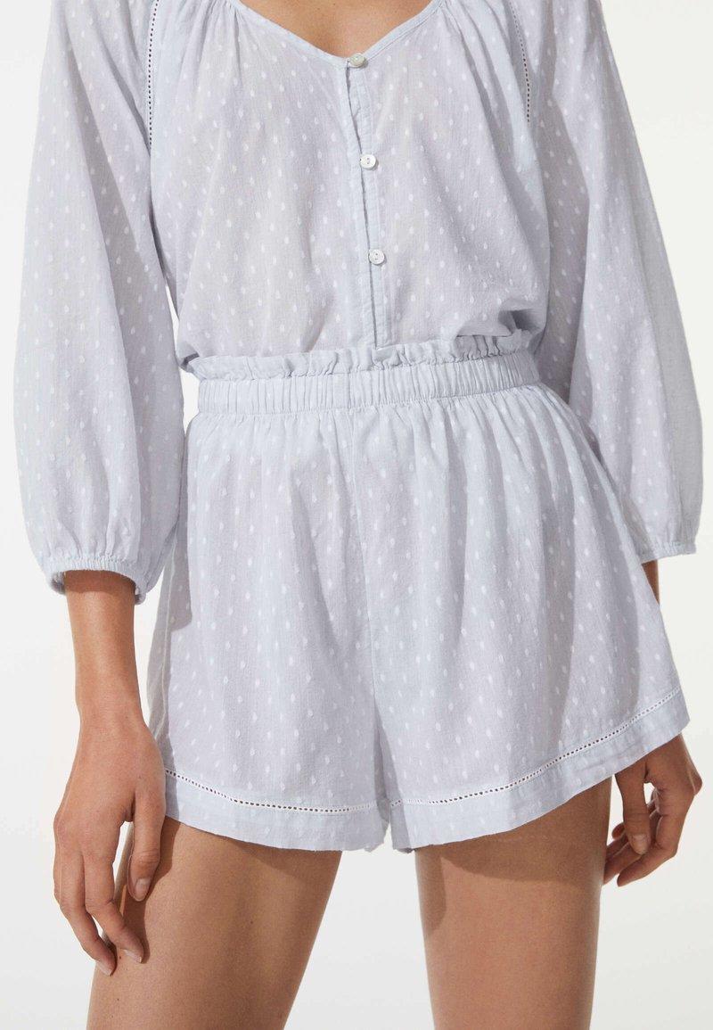 OYSHO - PLUMETI - Pyjama bottoms - blue