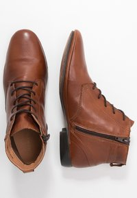 Anna Field - LEATHER BOOTIES - Ankle boots - cognac - 3