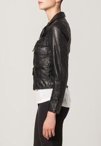 Oakwood - CAMERA - Veste en cuir - schwarz - 3