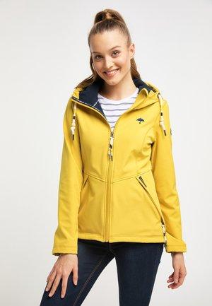 Outdoorová bunda - mustard yellow