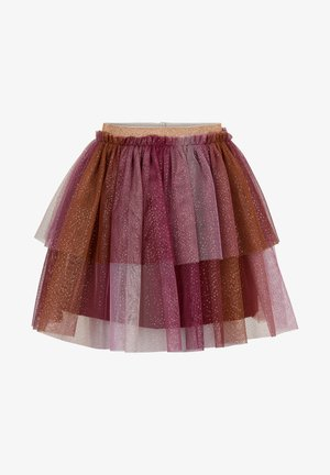 W/ GLITTER - A-line skirt - rhododendron