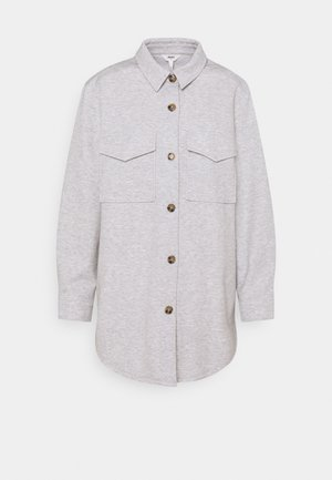 OBJMEZA - Button-down blouse - light grey melange