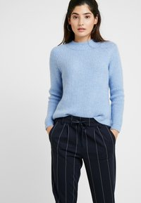 ONLY Petite - ONLPOPTRASH TEMPO STRIPE PANT - Trousers - night sky - 4