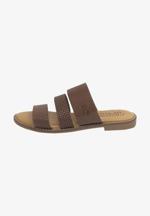 Sandalias planas - marrón
