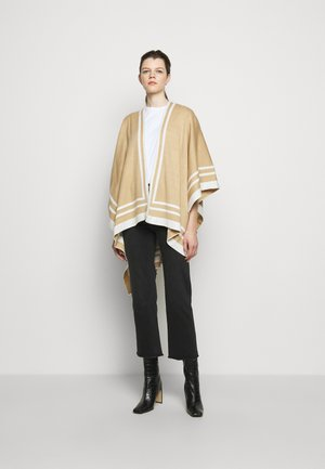 RUANA - Cape - camel/cream