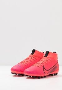 Nike Performance - MERCURIAL 7 ACADEMY AG - Moulded stud football boots - laser crimson/black - 3