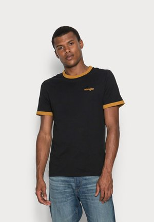 RINGER TEE - T-shirt - bas - black