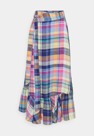 PLAIDS - Wrap skirt - blue/yellow