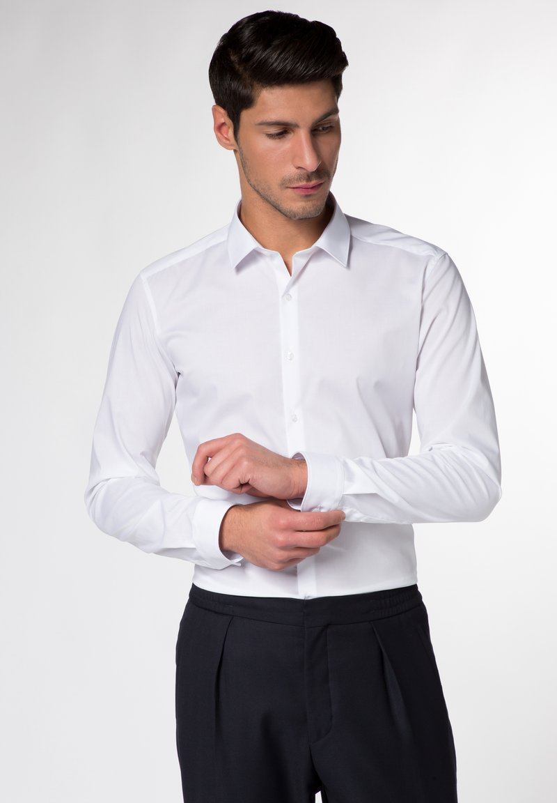 Eterna - UNI STRETCH SUPER SLIM - Kostymskjorta - white
