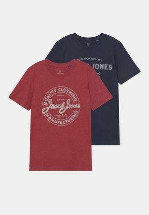 JJEJEANS TEE O-NECK 2 PACK - T-Shirt print - navy blazer