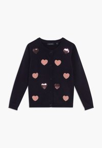 Blue Seven - KIDS SEQUIN HEARTS - Vest - nachtblau - 0