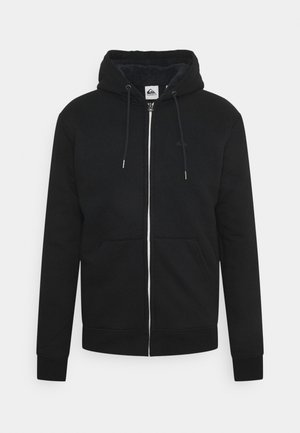 ESSENTIALS SHERPA - Zip-up sweatshirt - black