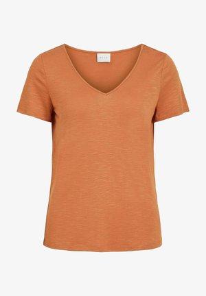 VINOEL  - T-shirts - mottled orange