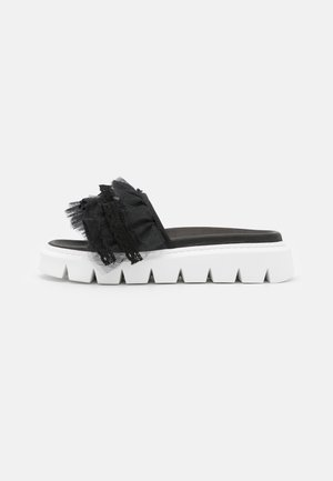 TULLE SLIDE  - Ciabattine - black