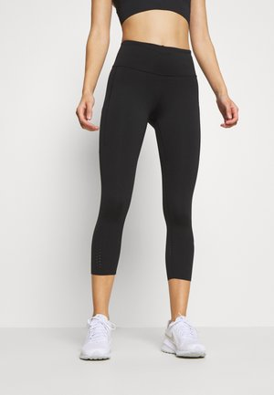 EPIC CROP - Tights - black/reflective silver