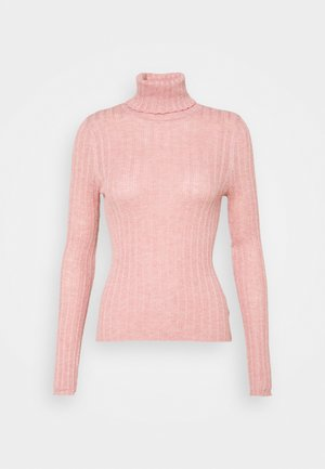 SOLID BODYCON TURTLENECK - Jumper - rosy