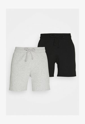 JJISIMONE SHORTS 2-PACK - Tracksuit bottoms - black/Light grey melange