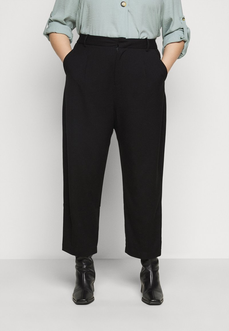 Kaffe Curve - KCMETA PANTS SUITING - Trousers - black deep