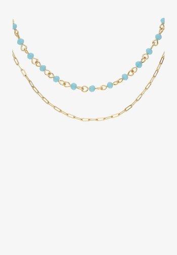 MIT GLASSTEINEN IN GLANZ-OPTIK - Necklace - blau